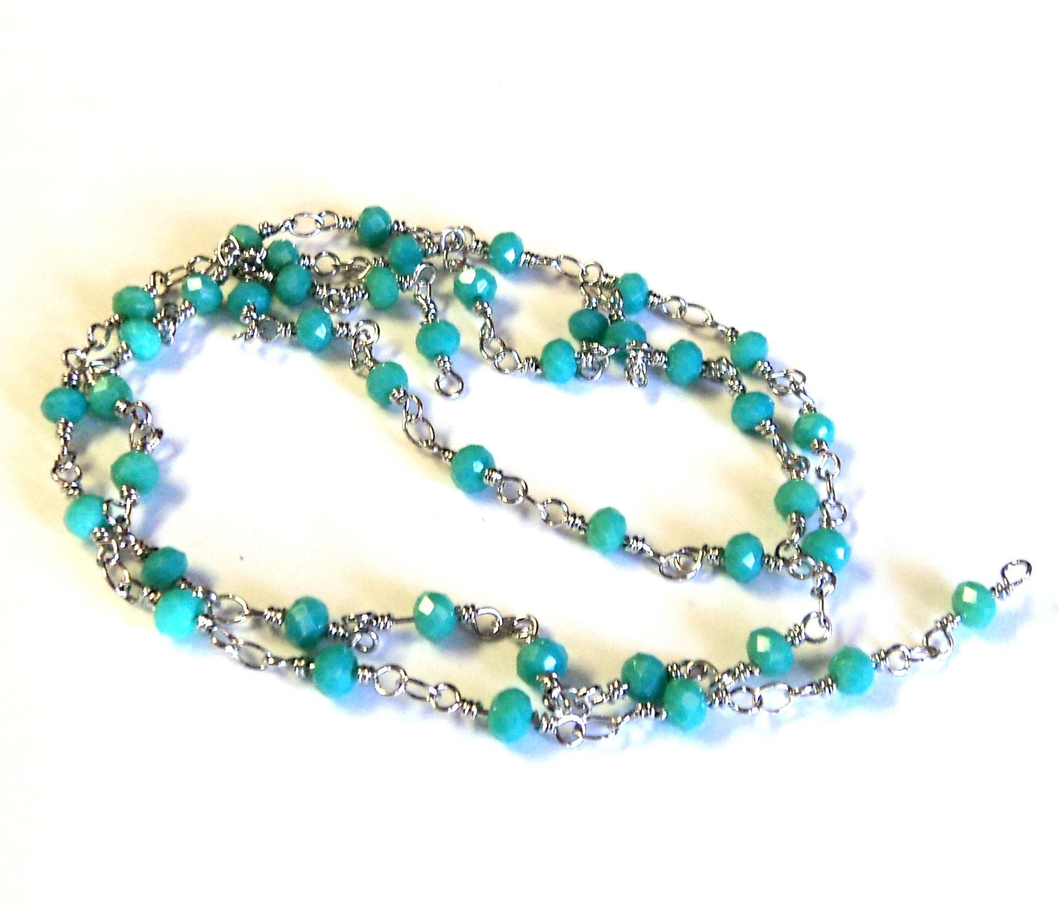 beaded chain for jewelry making
