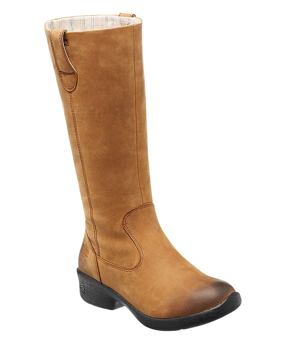 Loving this KEEN Deer Tan Tyretread Waterproof Leather Boot - Women on  #zulily! #