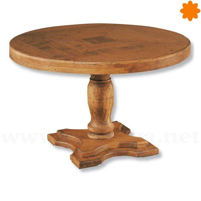 mesa redonda de madera para comedor de 1m de dimetro