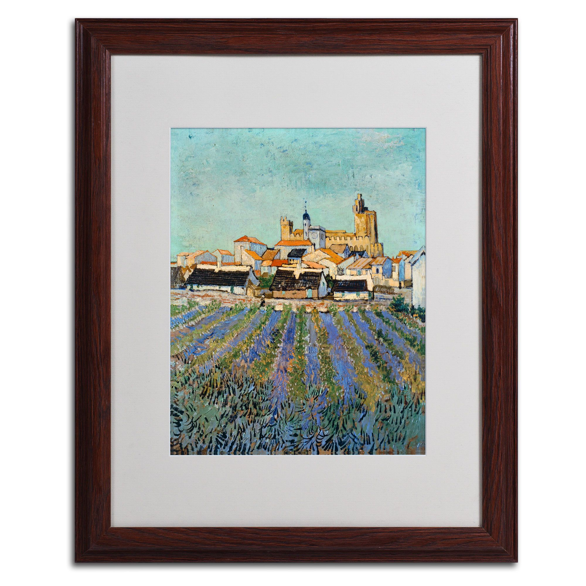 Saintes Maries by Vincent van Gogh Matted Framed Painting Print