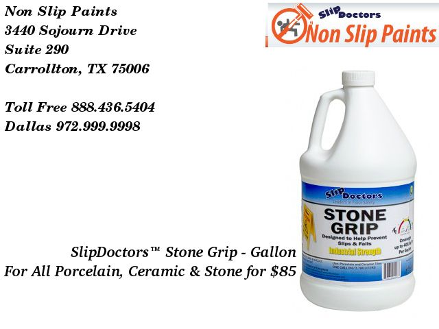 StoneGrip Will Dramatically Increase Traction And Improve Safety On - Ada slip resistance