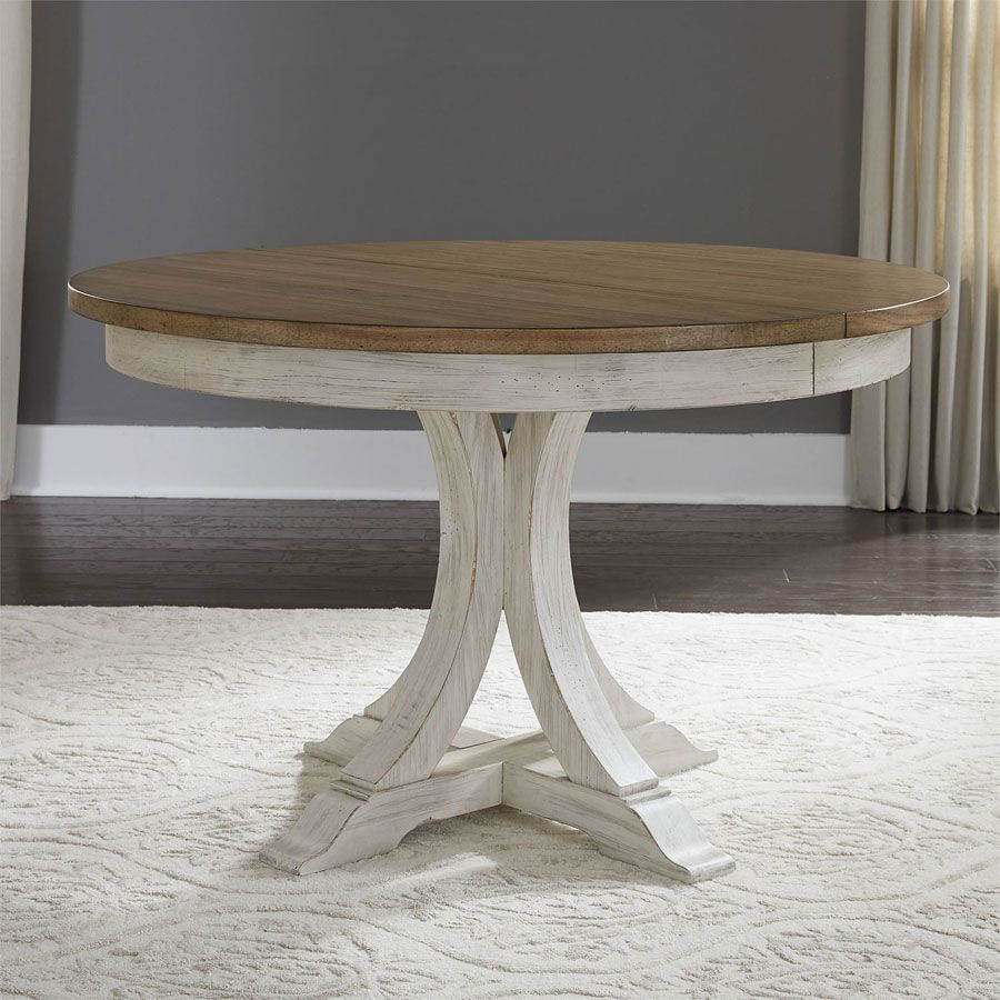 Farmhouse Reimagined Oval Dining Table Pedestal Table Liberty
