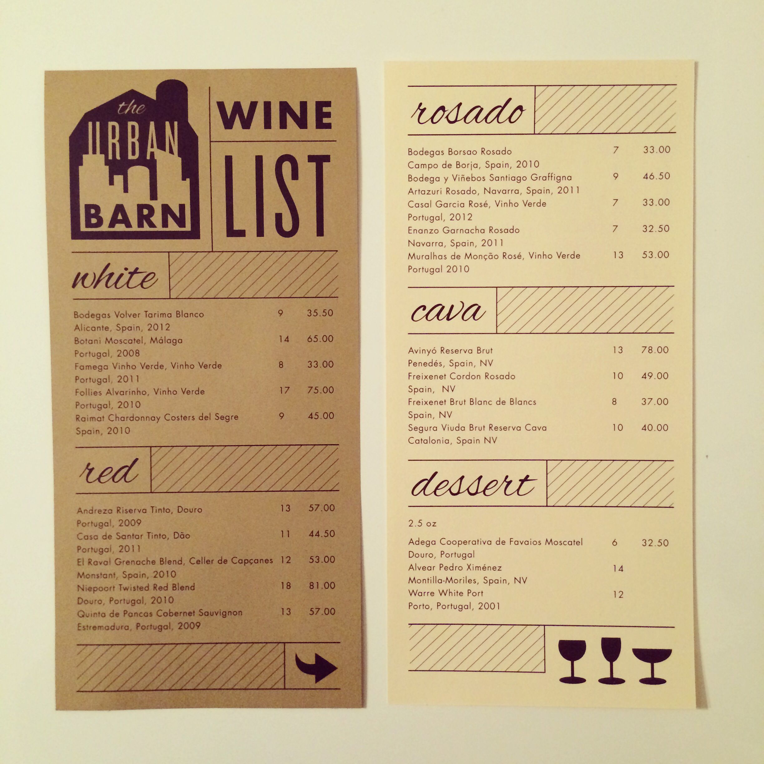 Wine menu by linzi clary type and design pinterest