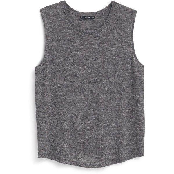 Mango Sleeveless t-shirt found on Polyvore featuring tops e222476ea