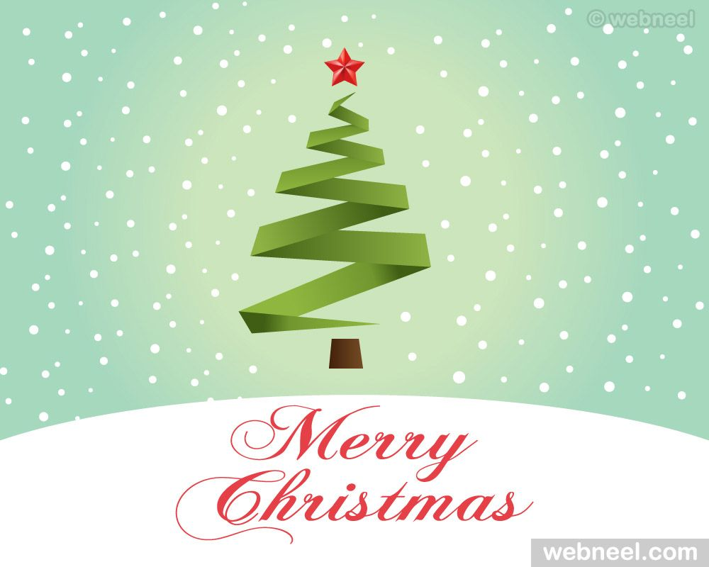 Christmas Greeting Card Design Free Vector Read Full Article