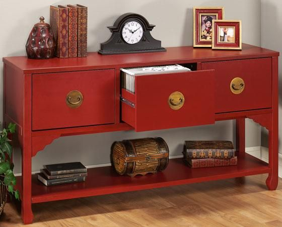 wuchow three drawer file console file storage file cabinets office furniture - Decorative File Cabinets