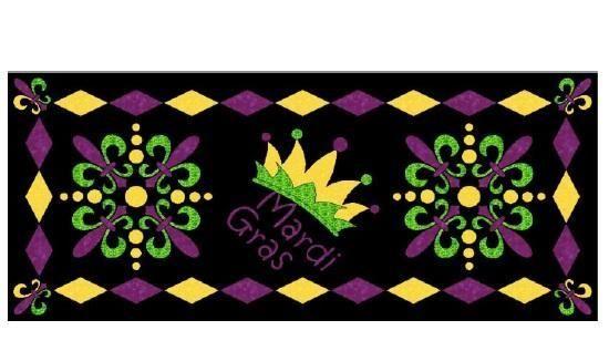Mardi Gras Table Runner - via @Craftsy