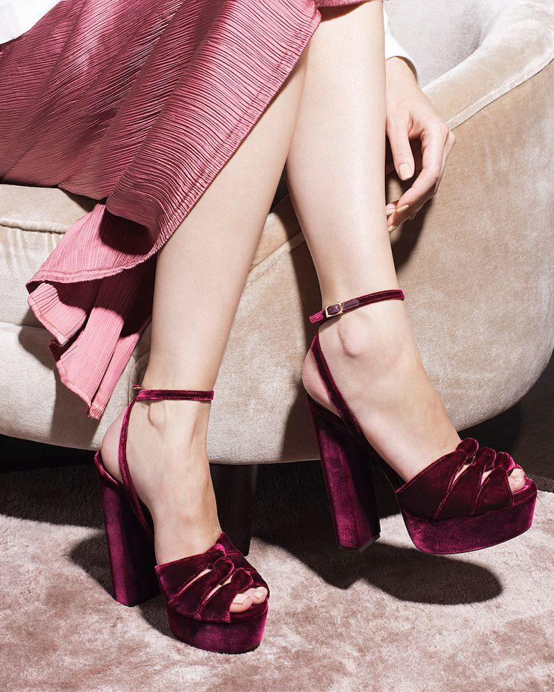 ee2b2c7a6af9 Aquazzura Mira Knot Velvet Platform Sandals