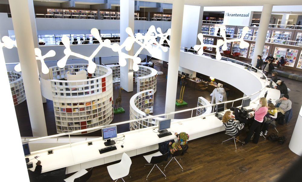 Library design library interior public library amsterdam form school remodel - Moderne bibliotheek ...
