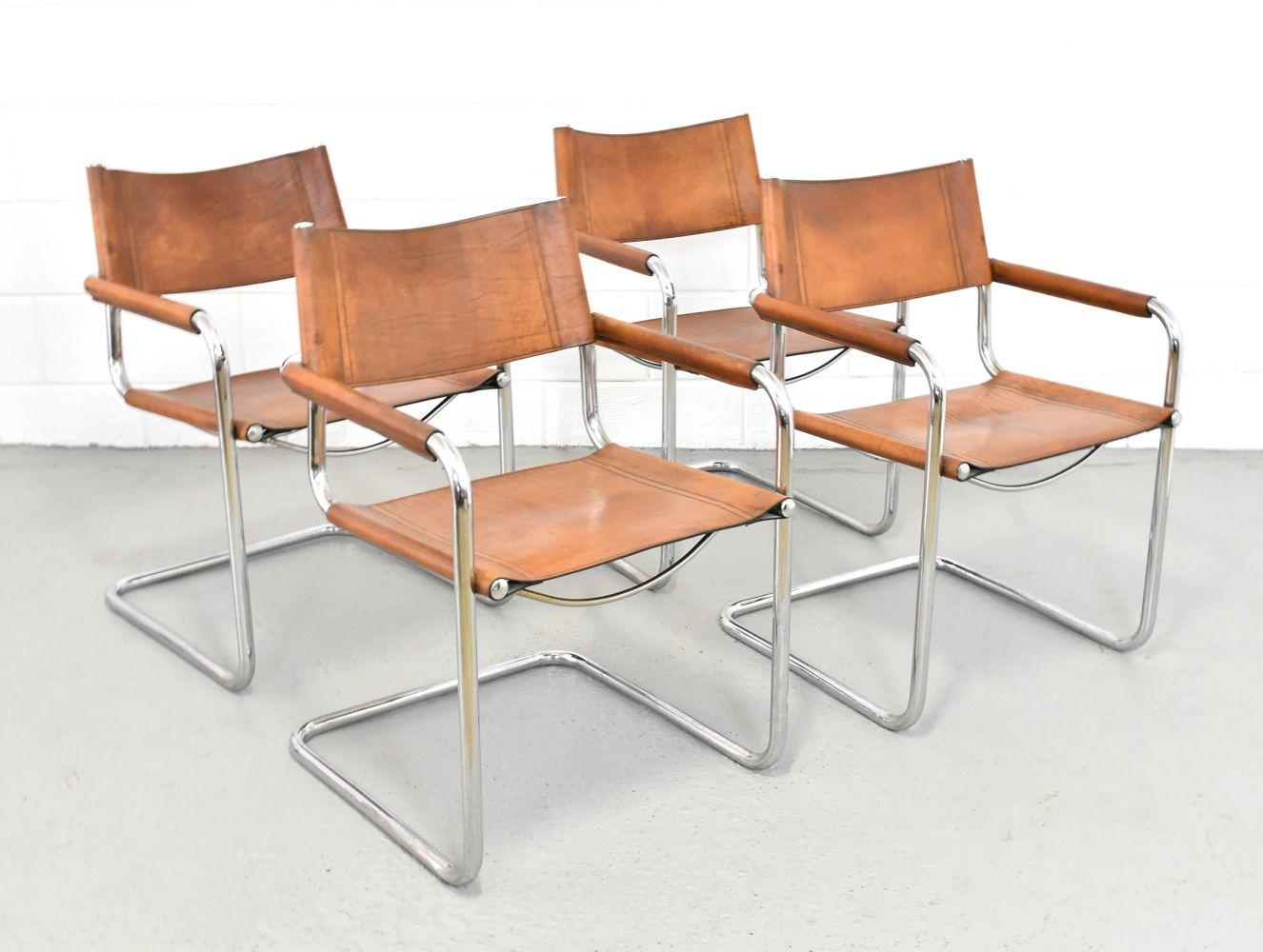 Set of 4 dinner chairs by Mart Stam for Fasem, 1960s