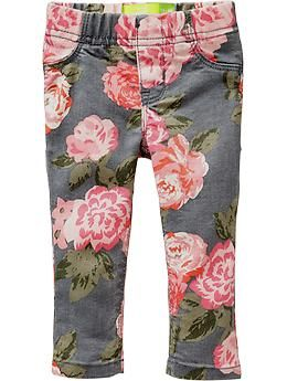 c7cdccfc5e6ca Printed Pull-On Denim Jeggings for Baby | Old Navy | Baby Girl ...