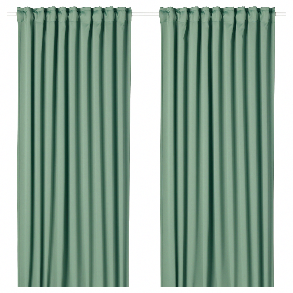 Majgull Blackout Curtains 1 Pair Ikea Windowtreatmentpanels With Images Block Out Curtains Blackout Curtains Room Darkening Curtains