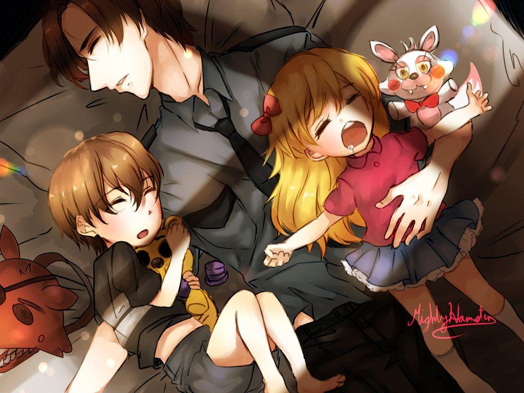 The Afton Kids By Mightyhamster Fnaf Drawings Fnaf Anime Fnaf
