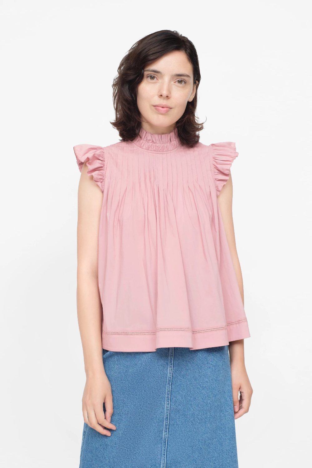 Clara Tank Open shoulder tops, Flutter sleeve, Tank