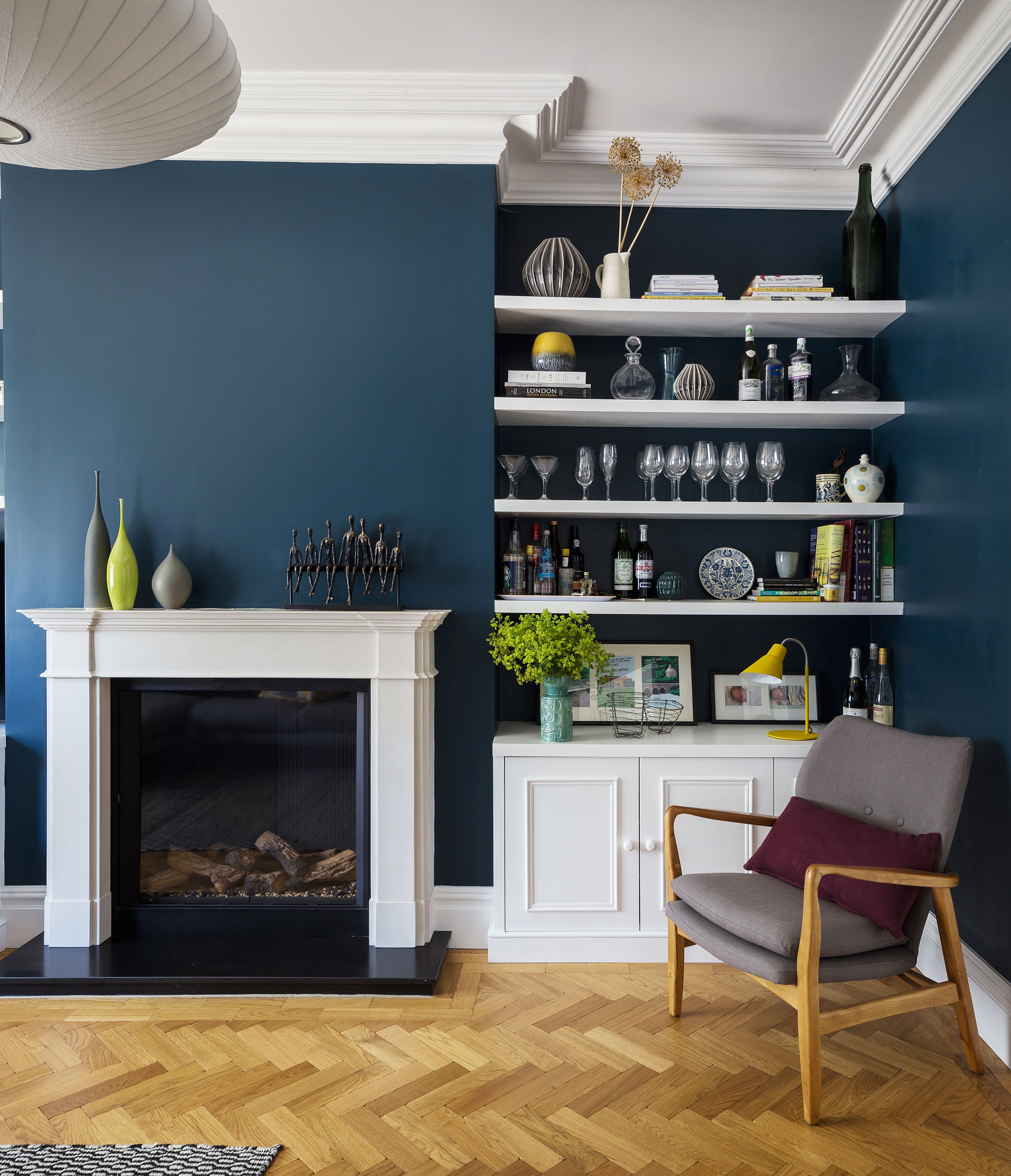 Interior Design By Imperfect Interiors At This Lovely Double Fronted Victorian House In East Dulwi Simple Living Room Victorian Living Room Living Room Shelves