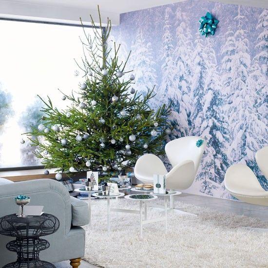 Modern Christmas Decorating Ideas Christmas Decorating Ideas Christmas Decorations Photo Gallery Ideal Home Mid Century Modern Christmas Christmas Living Rooms Modern Christmas