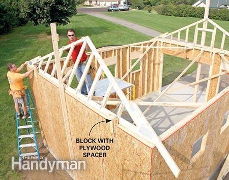 How To Build A Garage Framing A Garage Garage Workshop
