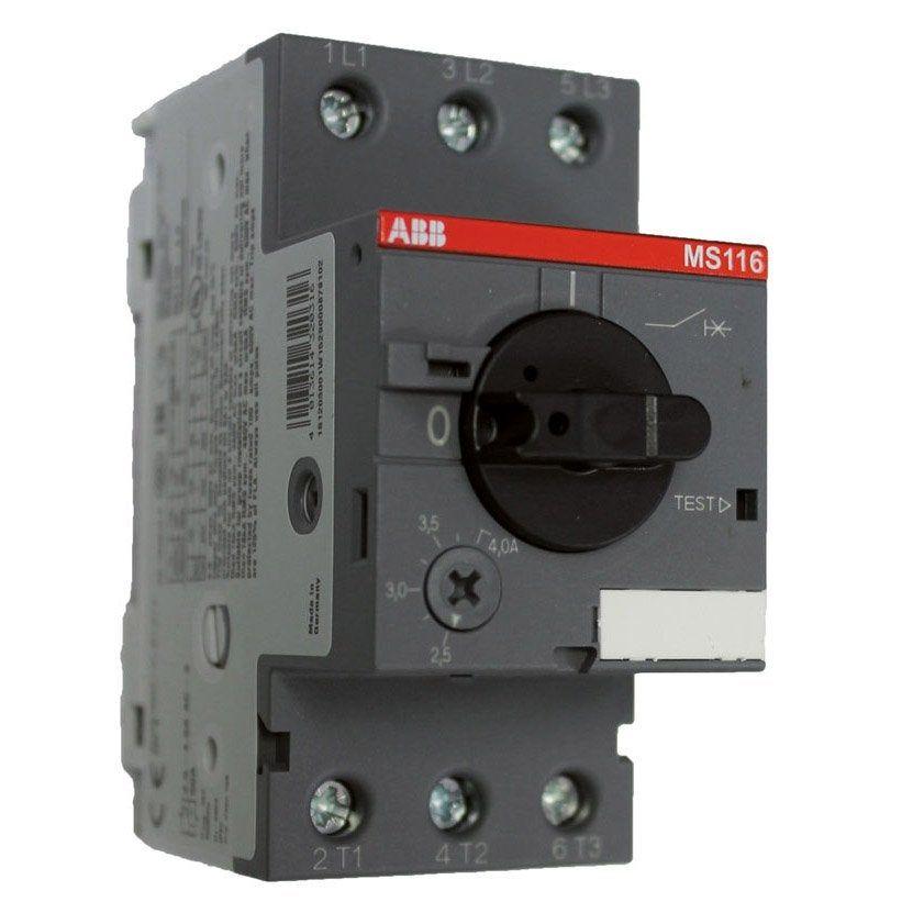 Disjoncteur Coffret Electrique Piscine Abb 4 A 6 A Moteur Magnetique Electrique Coffret