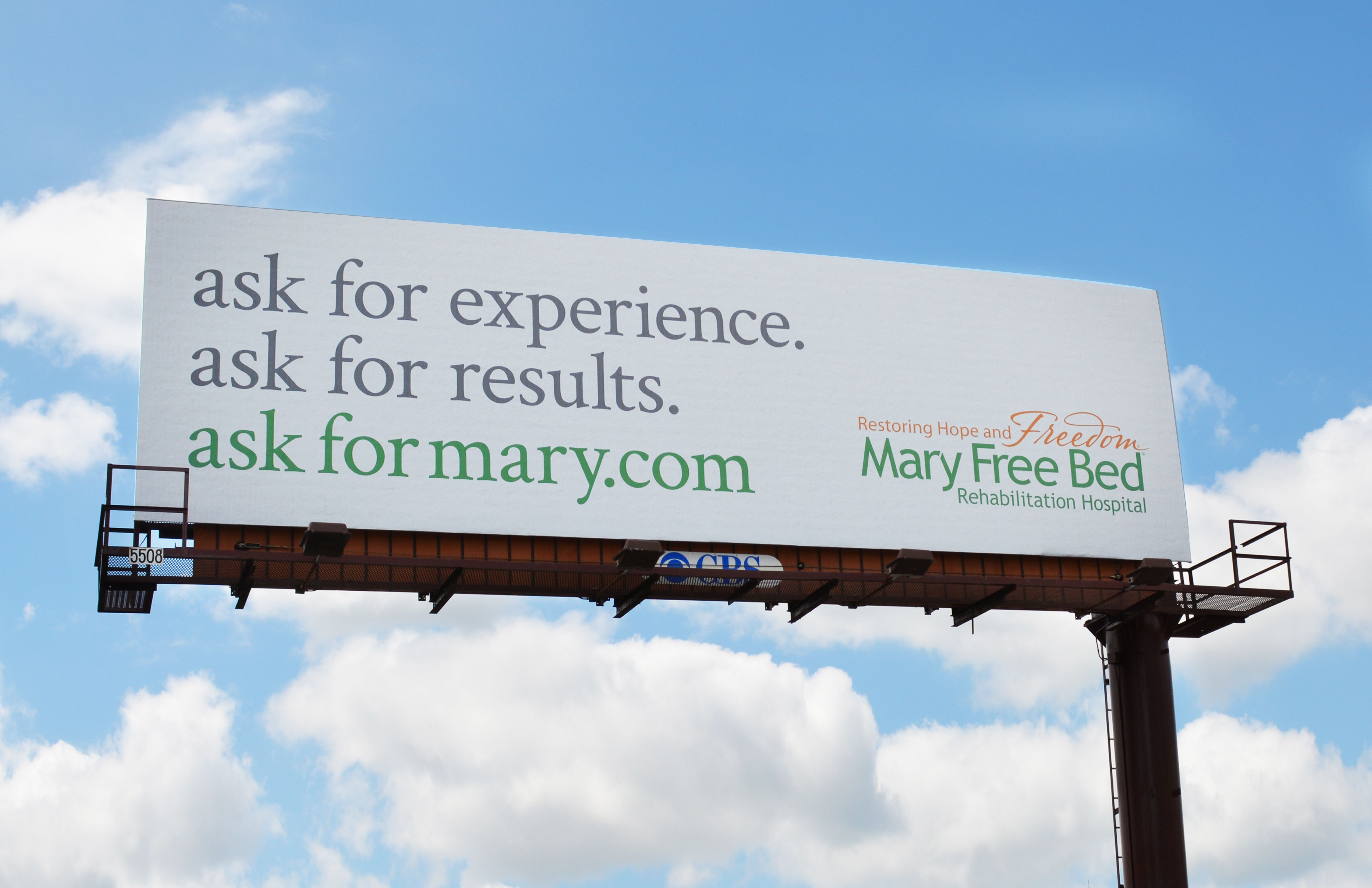 Mary Free Bed outdoor billboard by Extra