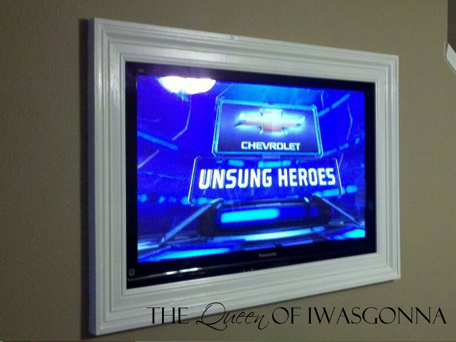 Flat screen TV wall frame In my future house Pinterest