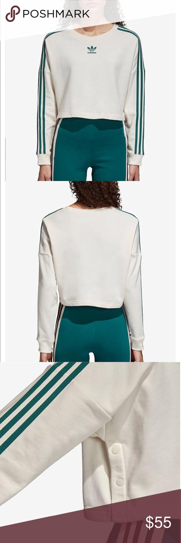 Adidas Adibreak Cropped Sweatshirt Adidas Adibreak Cropped Sweatshirt Cream With Green Stripes Product Details In Crop Sweatshirt Clothes Design Sweatshirts [ 1740 x 580 Pixel ]