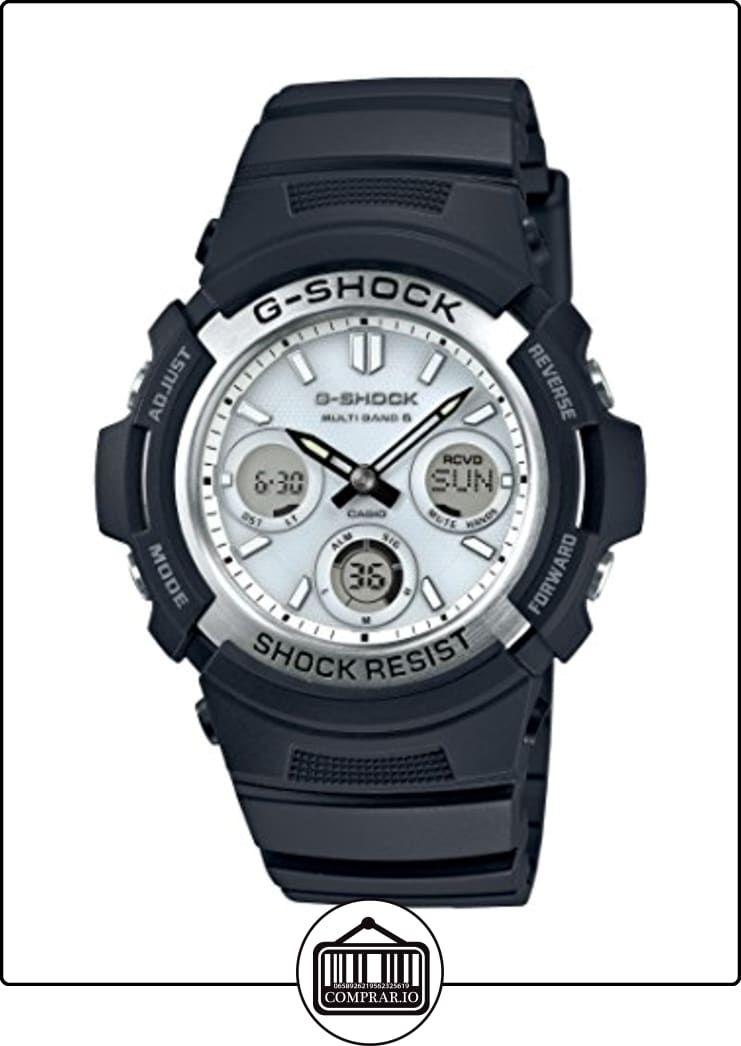 Reloj cuarzo Casio Para Unisex Con Blanco Analogico- digital Y Negro Resina  AWG-M100S-7AER de ✿ Relojes para hombre - (Gama media alta) ✿ 529d65b72