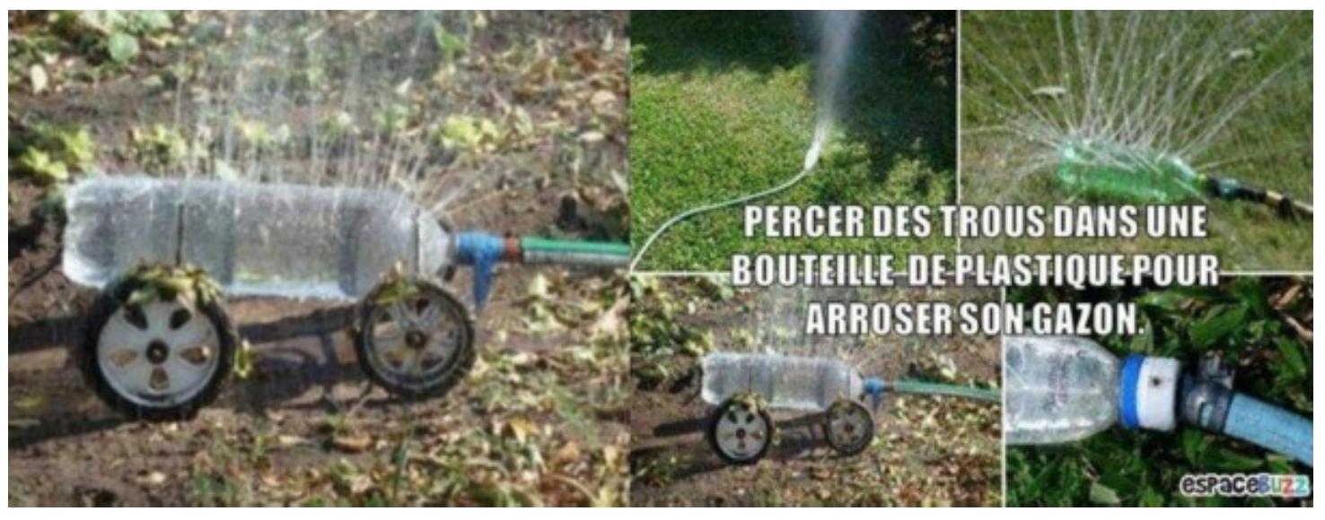 arrosage avec une bouteille de soda | astuces de jardinage