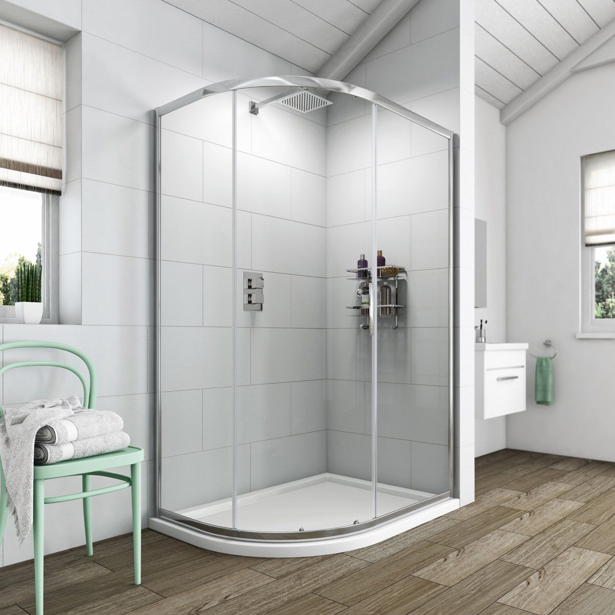 See Our Clarity 6mm Single Door Offset Quadrant Shower Enclosure Offer Pack Plus Many More