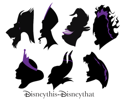 Finished Moving On To Finishing The Actual Project Disney Silhouettes Disney Villains Disney Silhouette