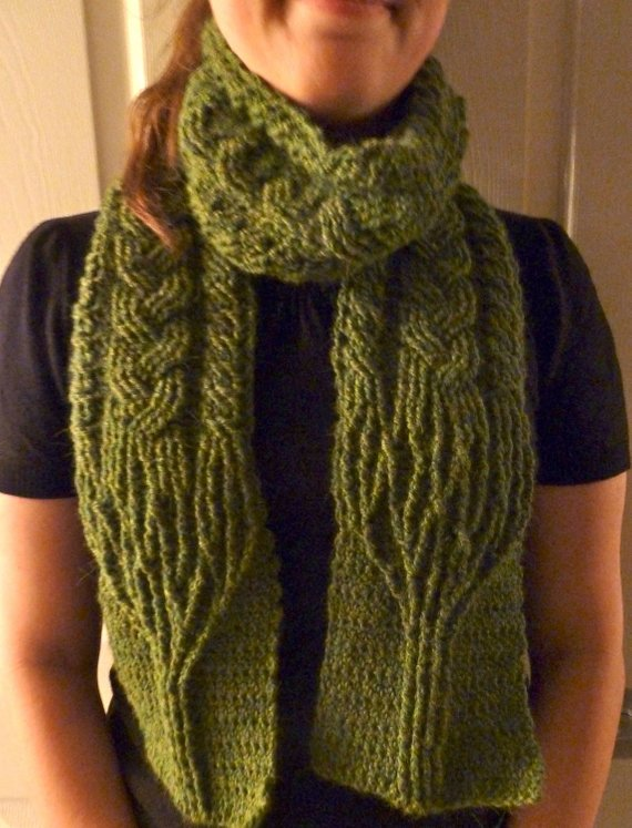 Crochet Scarf Pattern Limerick Tree Braided Cable Scarf Crochet