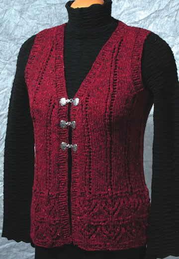 Fiddlesticks Knitting Luscious Vest Knitting Patternon Site