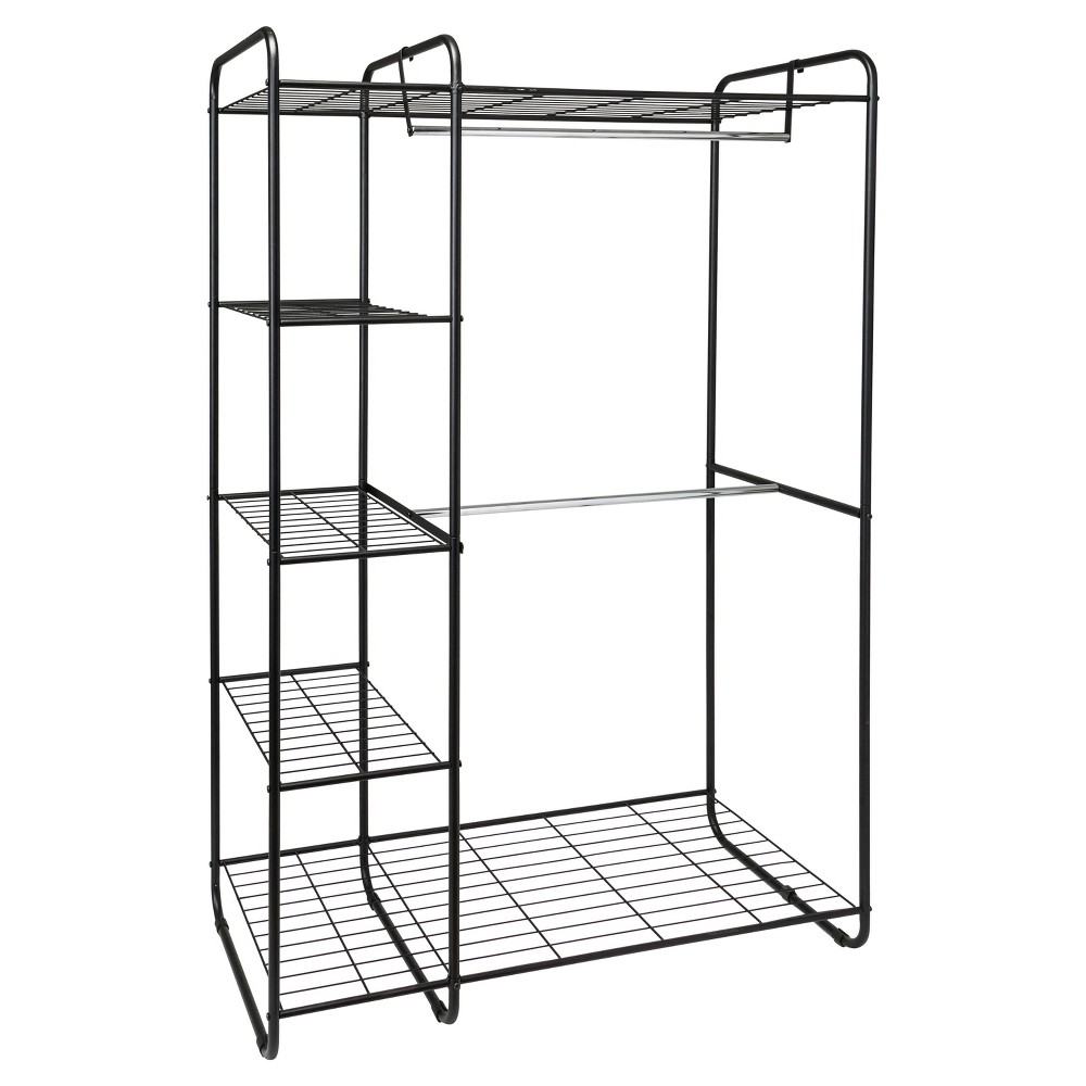 Freestanding Closet Black Silver Room Essentials Clothes Storage Without A Closet Silver Room Portable Closet