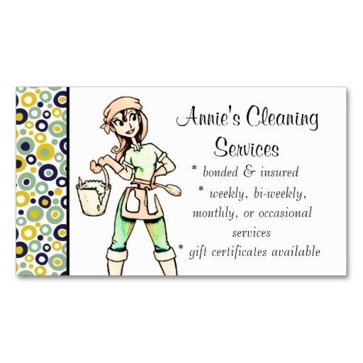 Cleaning services lady business card green yellow maid services cleaning services lady business card green yellow colourmoves Choice Image