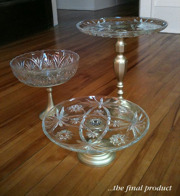 beautiful DIY cake stands made by @Elissa Braun