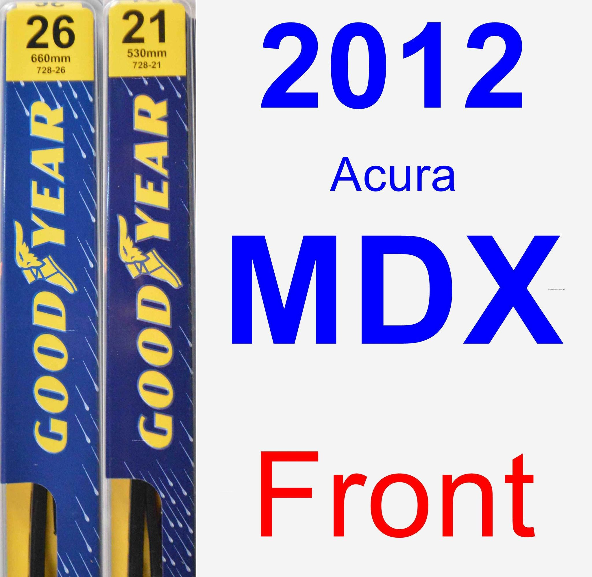 Front Wiper Blade Pack For 2012 Acura MDX