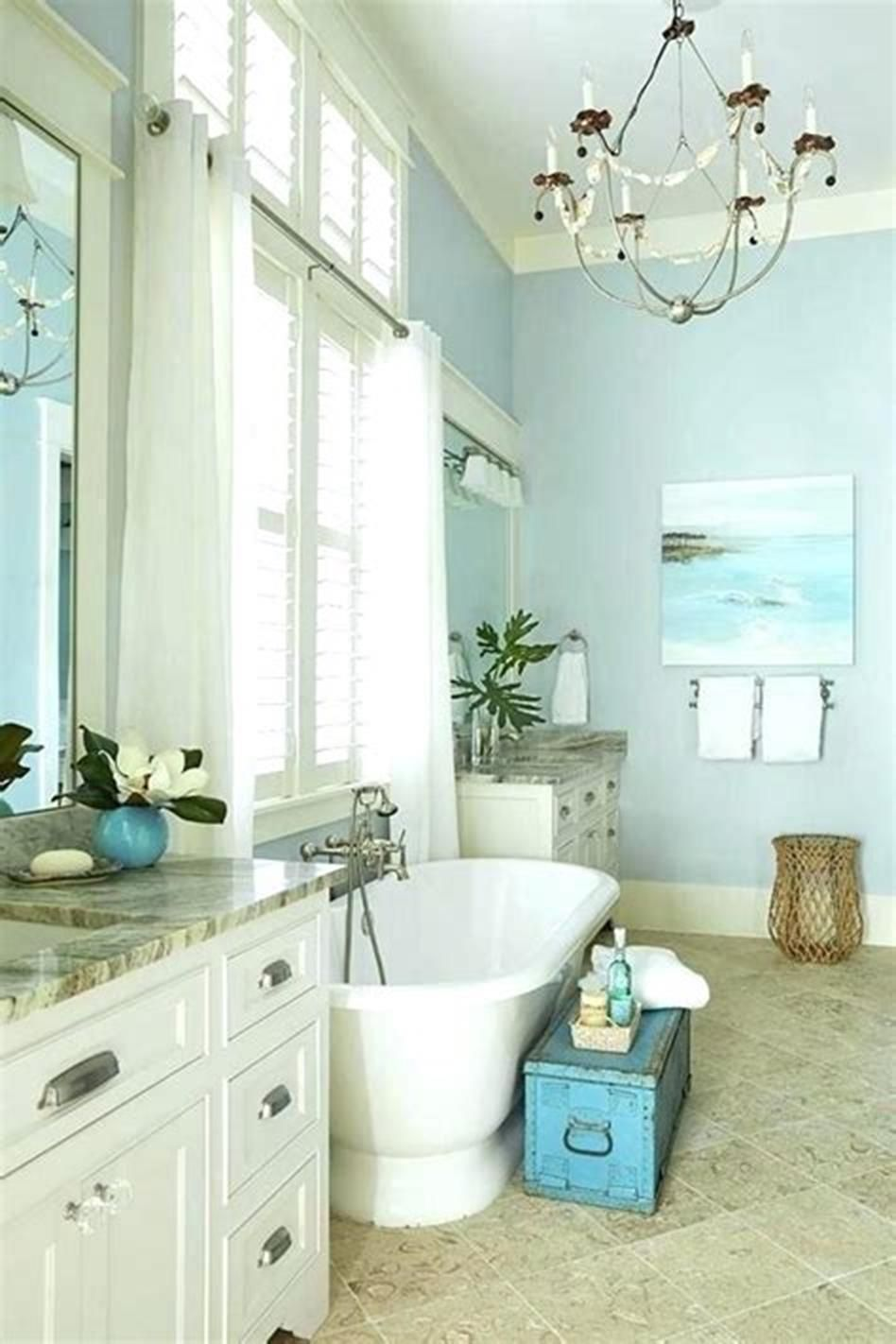 50 Amazing Beach Style Bathroom Design And Decor Ideas 35 Craft Home Ideas Coastal Bathroom Decor Beach Bathrooms Beach Bathroom Decor