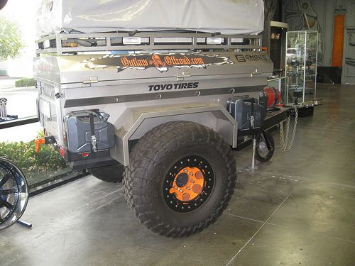 Custom Military Trailer   Is the rear hitch receiver still accessible with the spare swing out ...