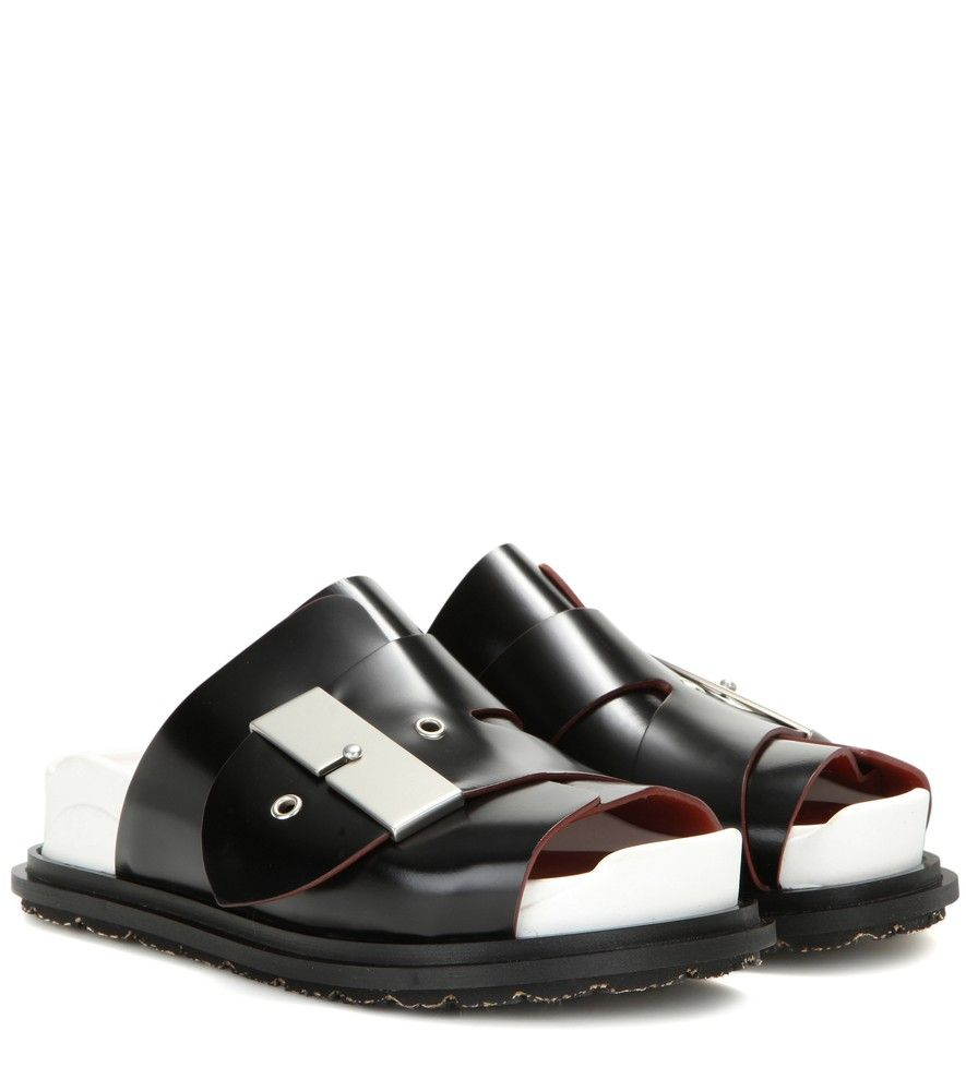 Acne studios shoes, White leather sandals
