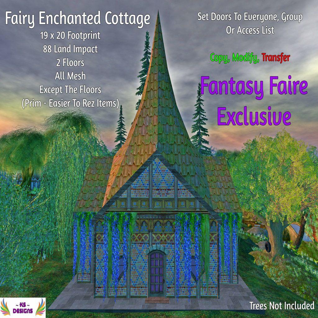 Ks Designs Fairy Enchanted Cottage Fantasy Faire 2017 Exclusive Fantasy Enchanted Fairy