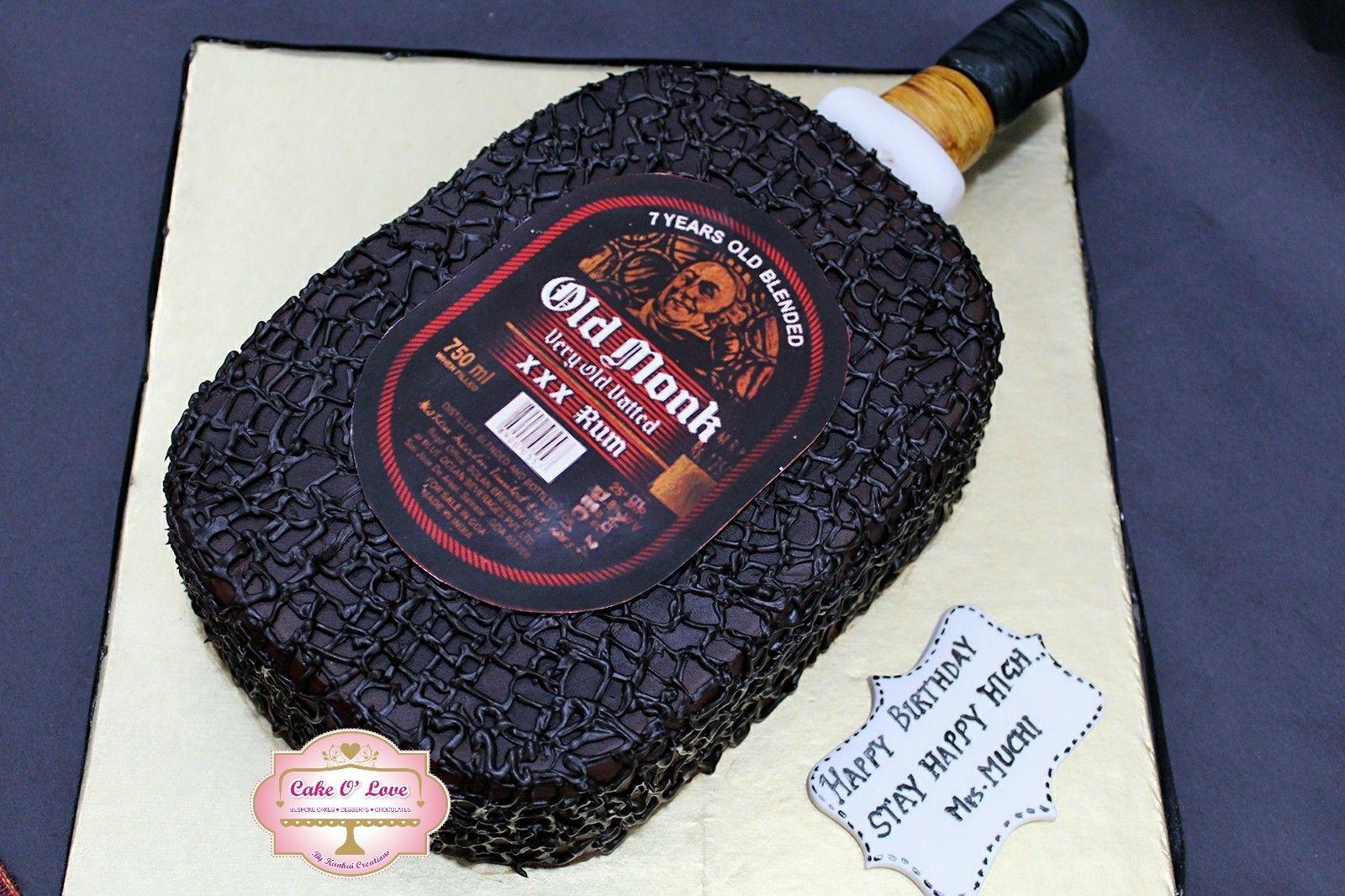 Old Monk Bottle Cake