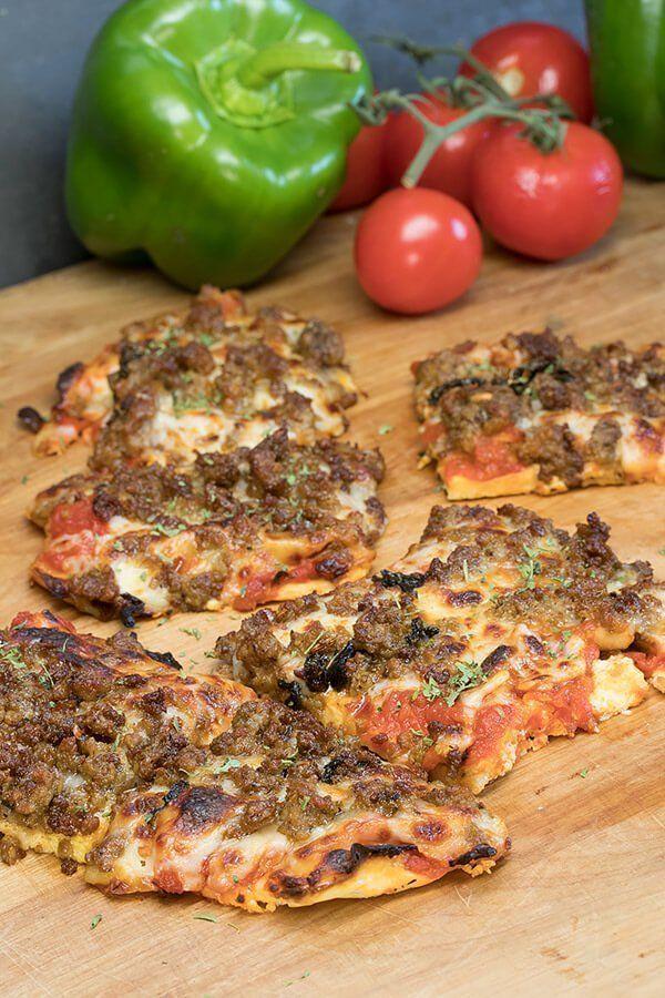 Cheesy Cheese Pizza Crust Pizza Recipe Cheese crust