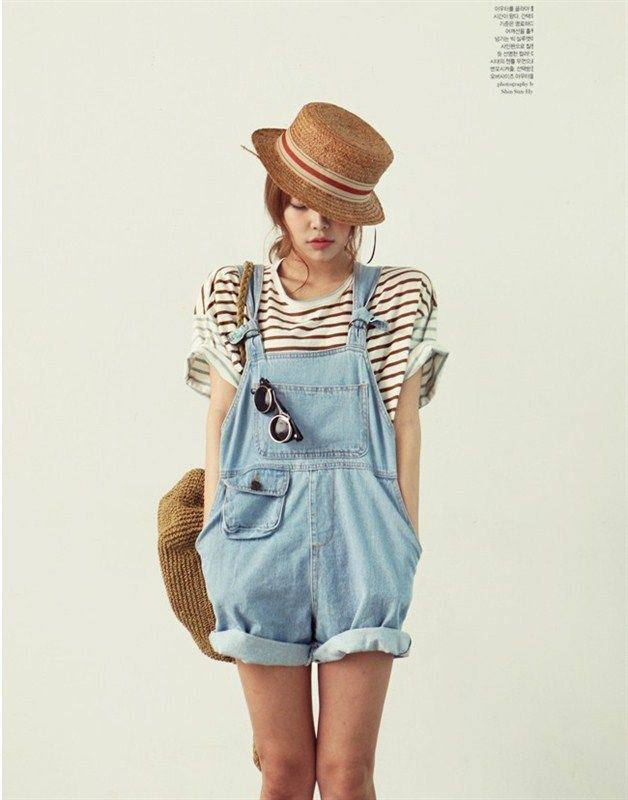 2416b70b9cd BOYFRIEND Style Loose Casual Women Denim Bib Pants Overalls Cute Girl  Washed Jeans Jumpsuit Romper Overall Shorts Plus Size S XL-inWomen from  Apparel ...