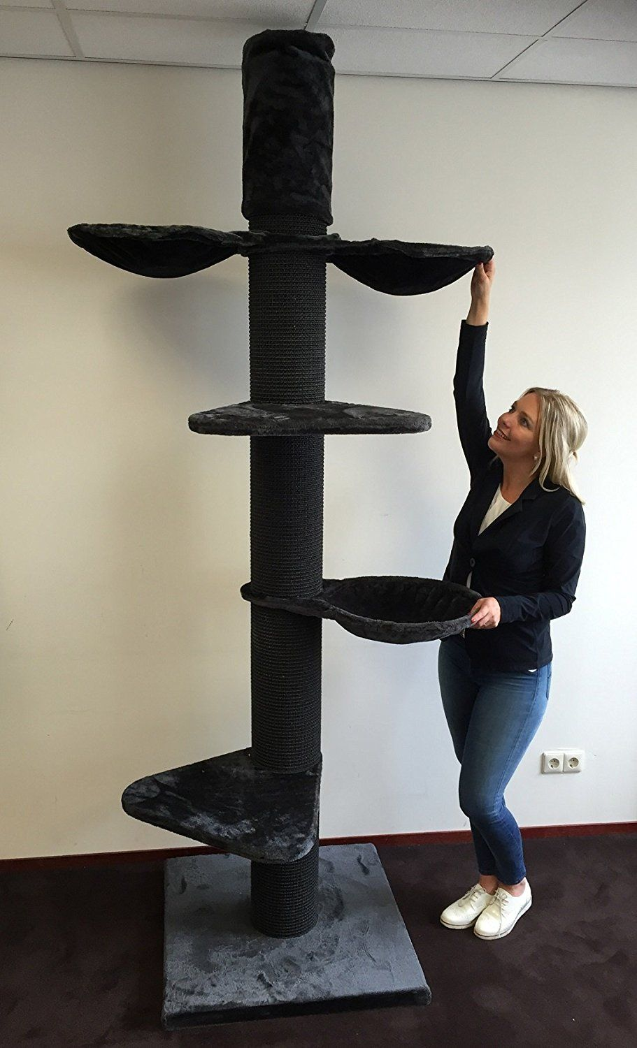 the cat tree maine coon tower plus blackline antracite is an