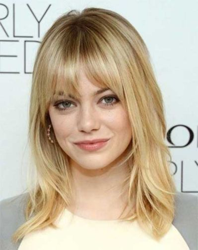 20 Haircuts With Bangs For Round All Pinterest Hair Hair