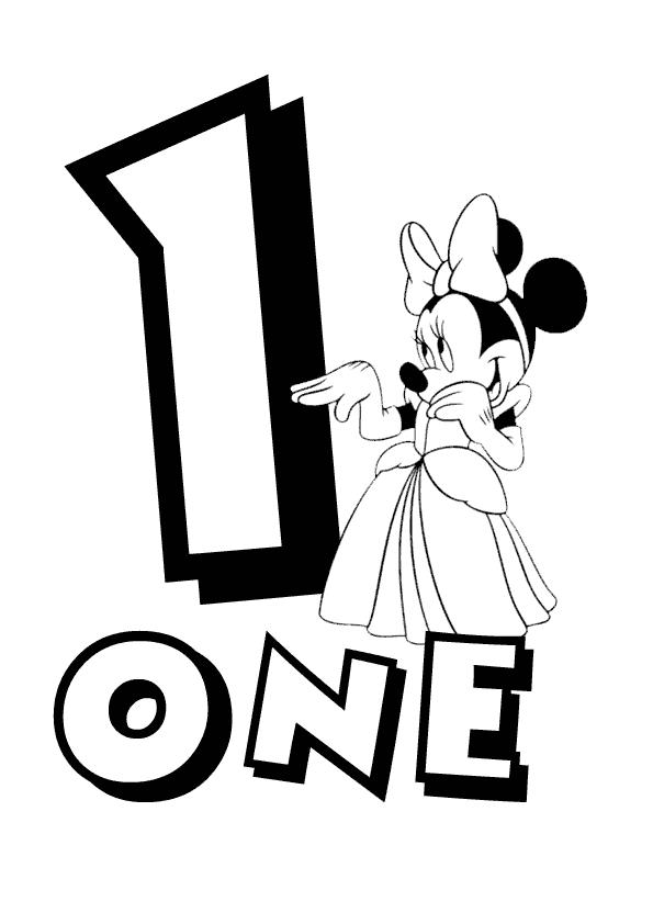Numeros con Personajes de Disney, para Colorear. | alfabetos ...