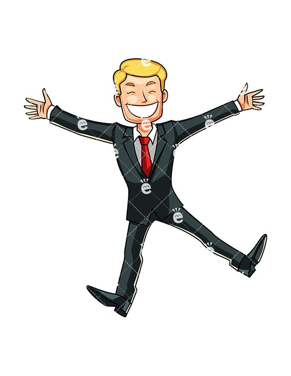 A Businessman Doing A Happy Dance With Images Cartoon