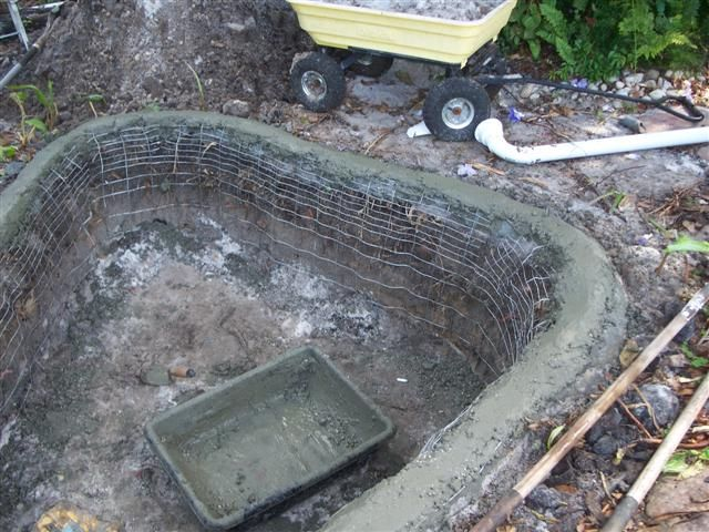 Cement ponds concrete pond diy tadege pond and water for Concrete fish pond construction and design