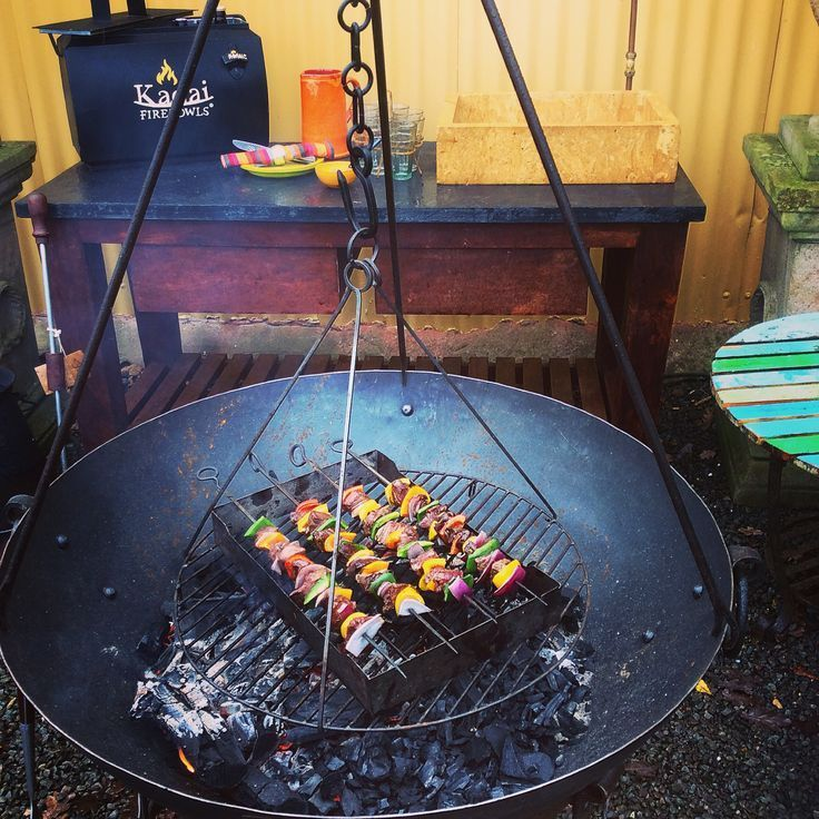 80cm Wilstone with tripod and swing grill with skew