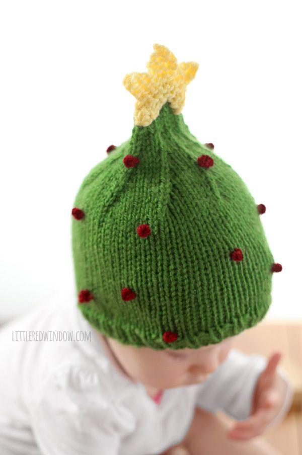 Christmas Tree Hat Knitting Pattern | Gorros, Bebe y Ganchillo