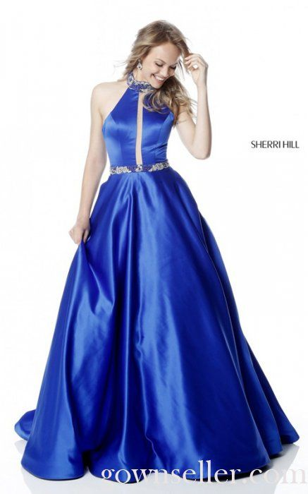 Sherri Hill 51589 Royal Long A Line Prom Dress